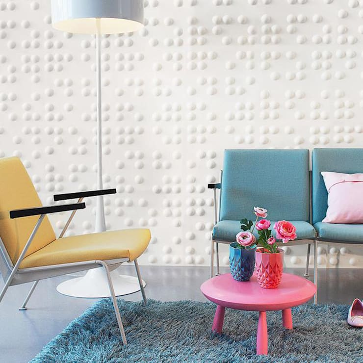WallFlat Braille: Salon de style  par Art Unic