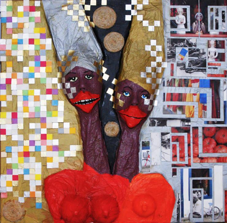 Arte Matheus: Vestíbulos, pasillos y escaleras de estilo  de Jorge Matheus