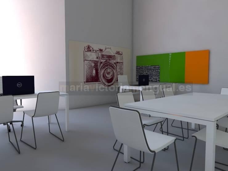 Espacio de trabajo para empresa audio-visual: Oficinas y Tiendas de estilo  de MUMARQ ARQUITECTURA E INTERIORISMO