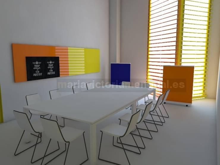 Zona de reunión.: Oficinas y Tiendas de estilo  de MUMARQ ARQUITECTURA E INTERIORISMO