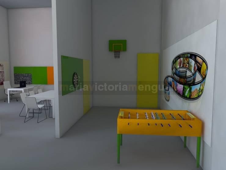Zona de entrada: Oficinas y Tiendas de estilo  de MUMARQ ARQUITECTURA E INTERIORISMO