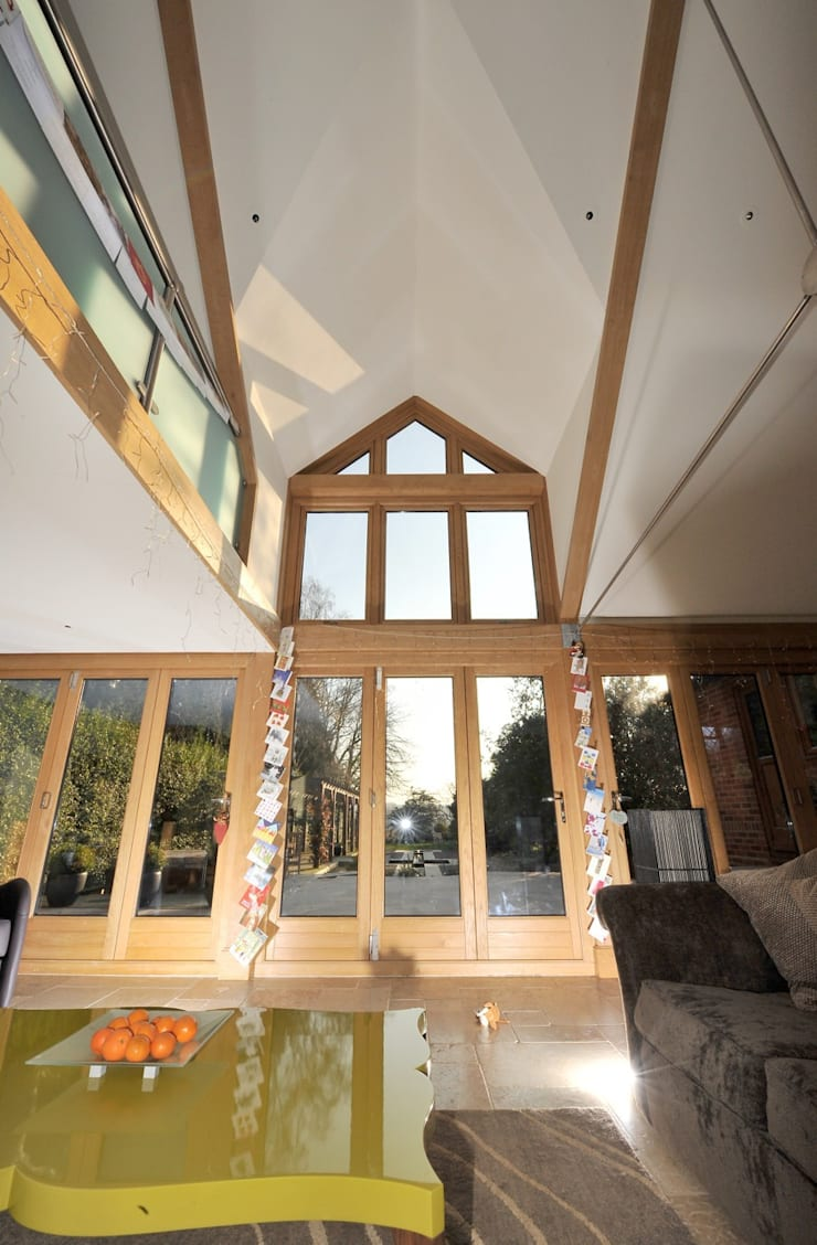 Country house extension:   by Paul Wiggins Architects