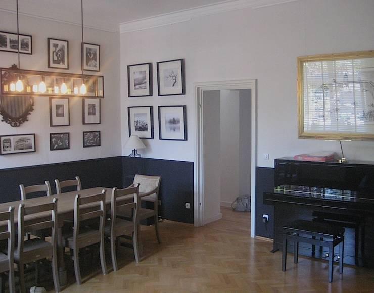 Gesellschaftsräume + Wandgestaltung Privathaus Essen:   von Projekt:EINRICHTUNG,Landhaus