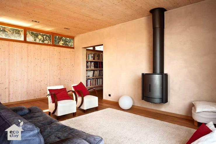 morteros de arcilla ecoclay: Casas de estilo  de ecoclay