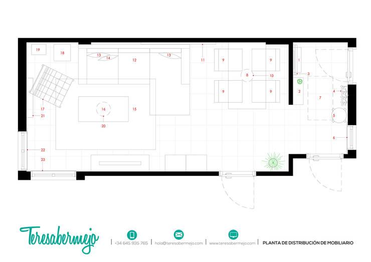 Proyecto e-decoración en Tenerife:  de estilo  de  Diseñadora de Interiores, Decoradora y Home Stager