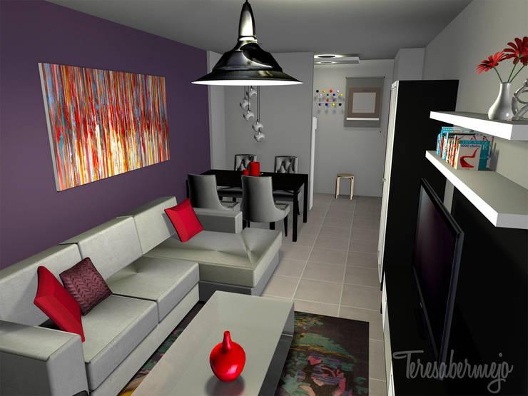 Proyecto e-decoración en Tenerife: Salones de estilo  de  Diseñadora de Interiores, Decoradora y Home Stager
