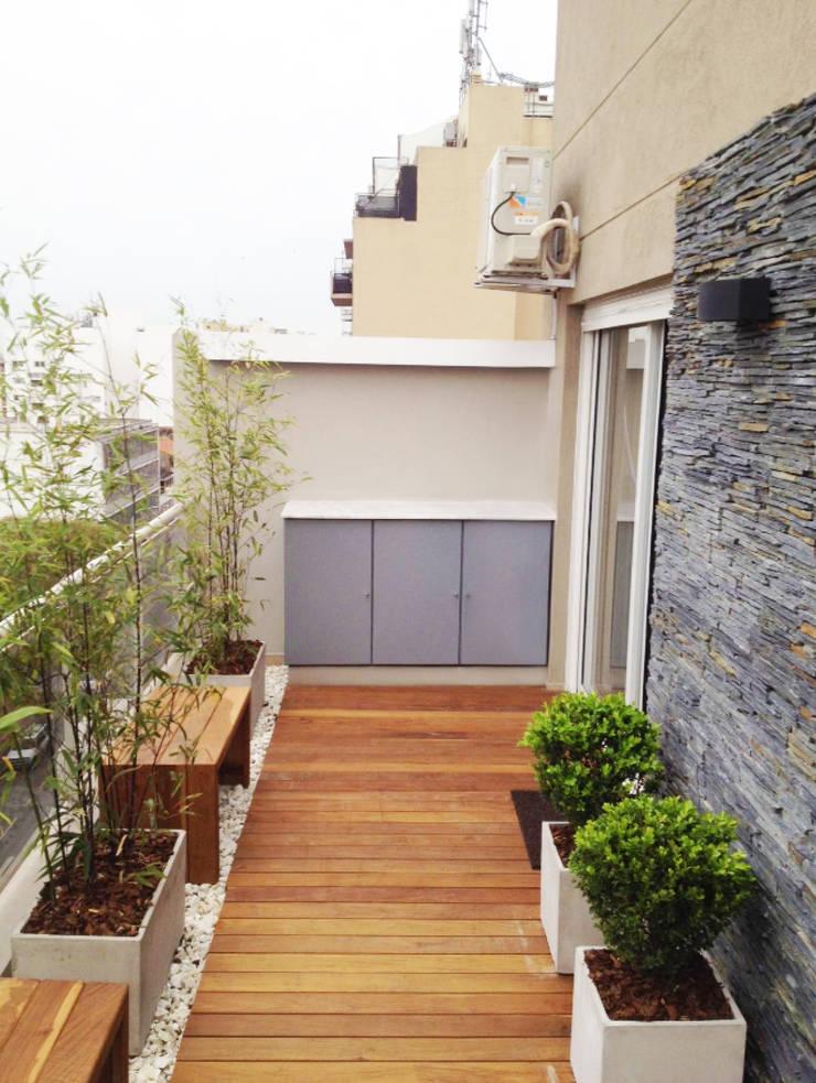Balcon Terraza Moderno: Terrazas de estilo  por Estudio Nicolas Pierry: Diseño en Arquitectura de Paisajes & Jardines,Moderno