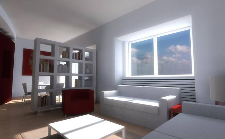 Casa C – realizzato: Soggiorno in stile  di STUDIOFLAT