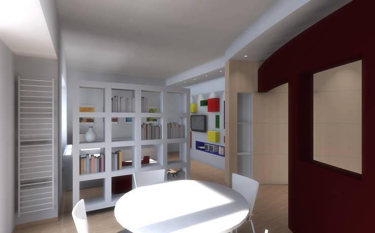 Casa C – realizzato: Sala da pranzo in stile  di STUDIOFLAT