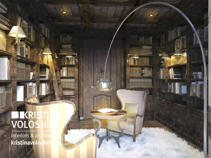 Библиотека в рустикальном стиле: Tерраса в . Автор – kristinavoloshina, Рустикальный