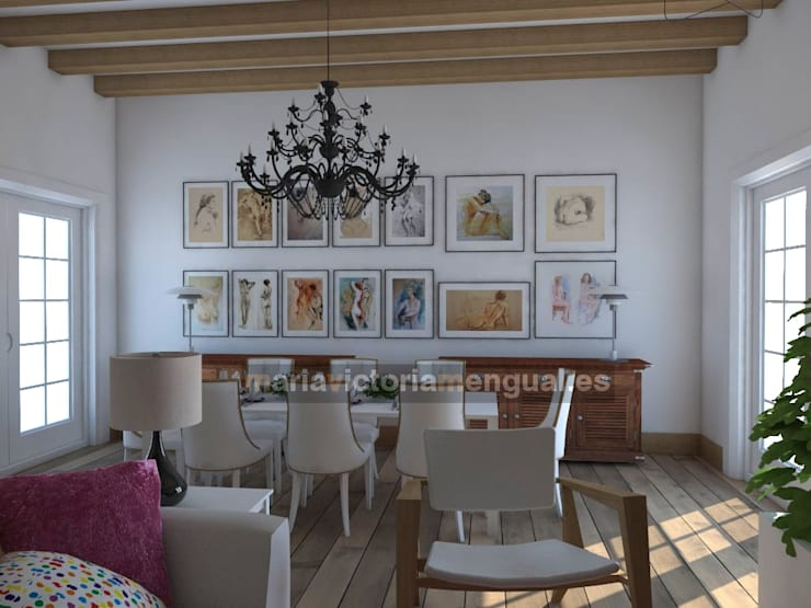 Reforma de cochera.: Salones de estilo  de MUMARQ ARQUITECTURA E INTERIORISMO