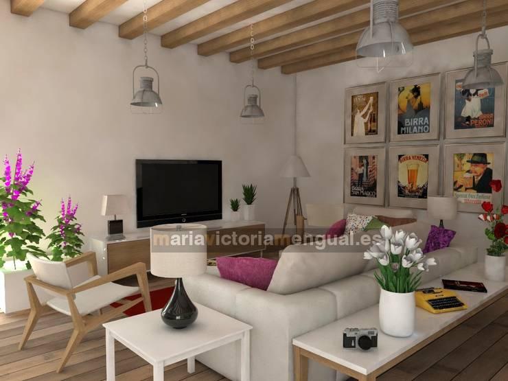 Livings de estilo  por MUMARQ ARQUITECTURA E INTERIORISMO