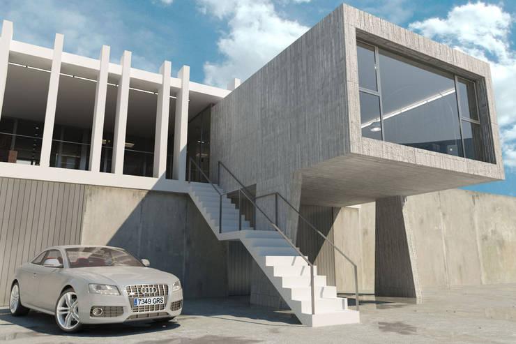 Voladizo: Casas de estilo  de RUBÉN MUEDRA ESTUDIO DE ARQUITECTURA