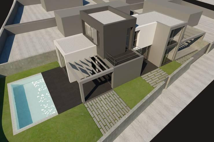 Vista exterior: Casas de estilo  de RUBÉN MUEDRA ESTUDIO DE ARQUITECTURA
