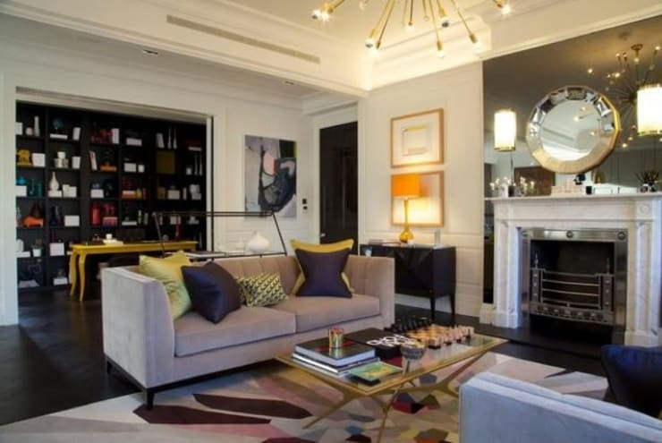 Global Eclectic Style:  Living room by SB design Studio