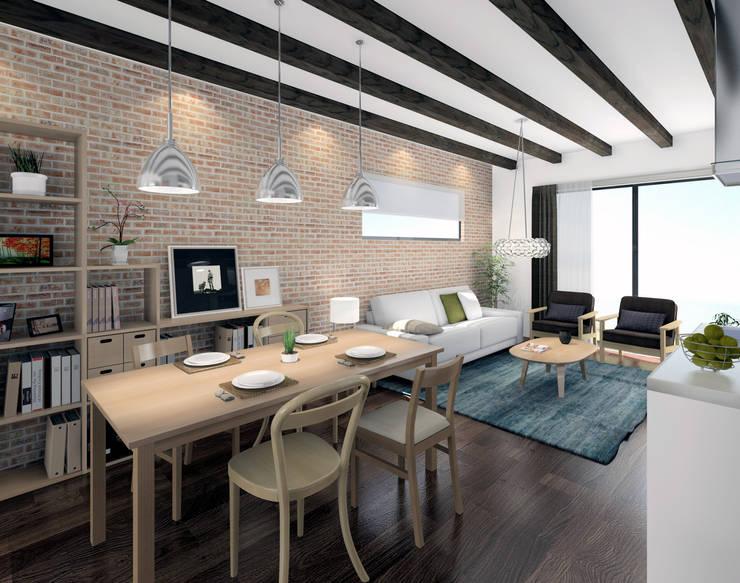 Apartamento MUJI: Casas de estilo  de AC Studio