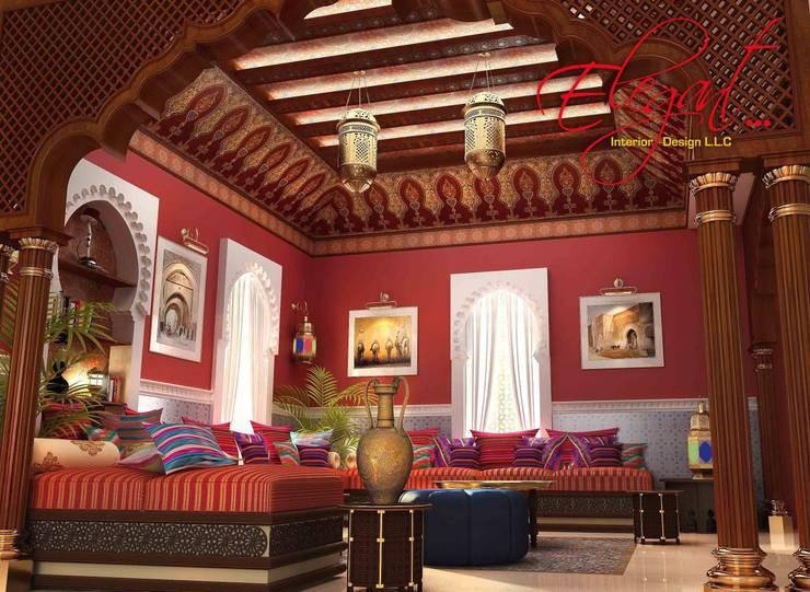 luxury villa:  Bedroom by elegant interior design llc