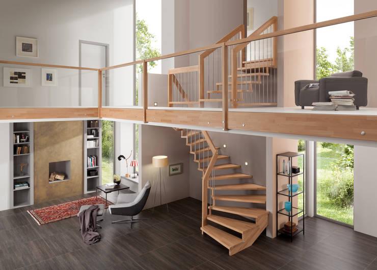 Engelhard Holztreppen Schreinerei GmbHが手掛けた玄関&廊下&階段