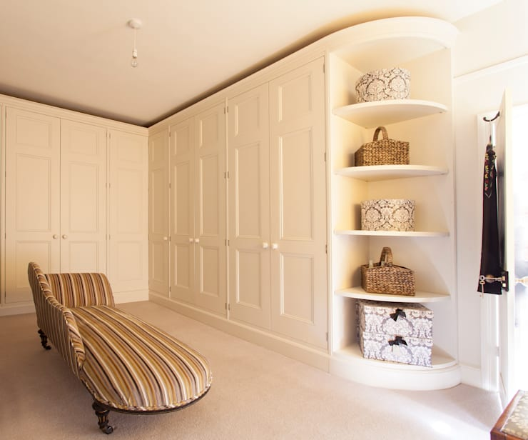 Bespoke cabinetry:  Dressing room by Baker & Baker