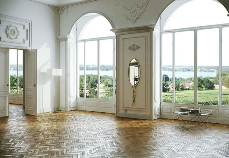 Mirror Kosichka:  Living room by Adonis Pauli HOME JEWELS