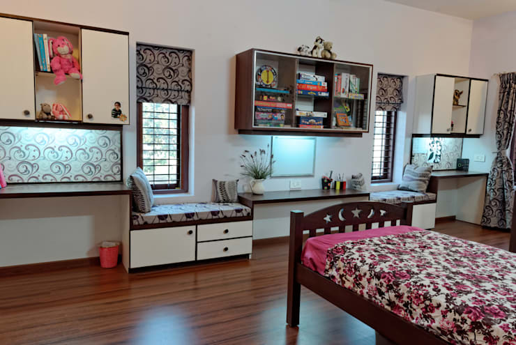 Jaya & Rajesh :  Nursery/kid's room by Cozy Nest Interiors, Modern