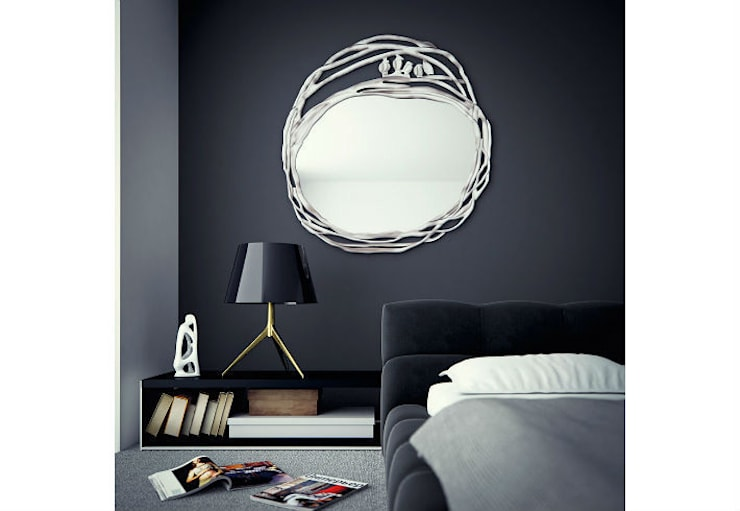 Mirror Love Nest:  Living room by Adonis Pauli HOME JEWELS