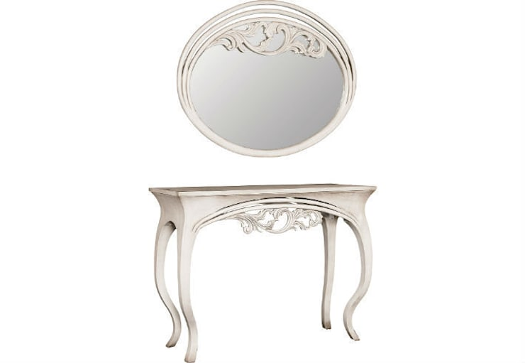 Mirror and Console Table Finesse:  Living room by Adonis Pauli HOME JEWELS