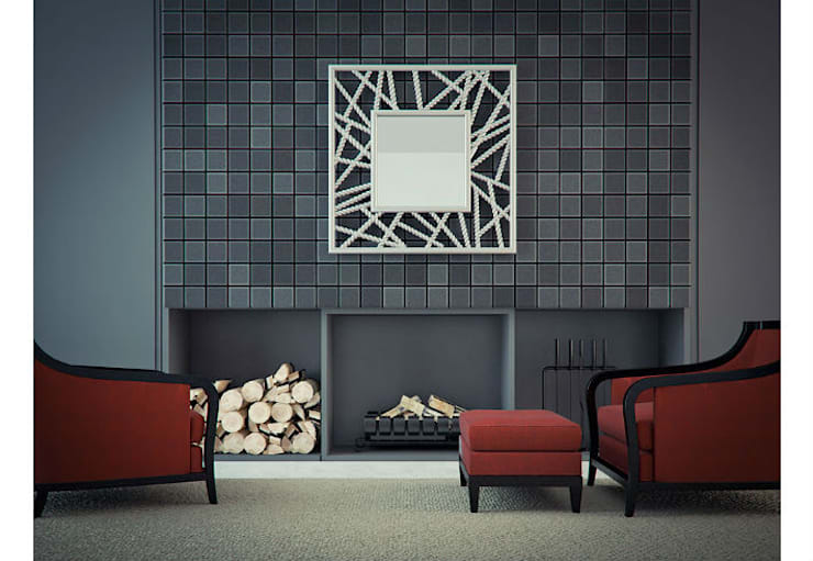 Mirror Zen:  Living room by Adonis Pauli HOME JEWELS