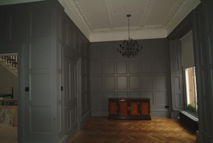 Tv Presenters Colin & Justins Home Glasgow:   by The UK's Leading Wall Panelling Experts Team