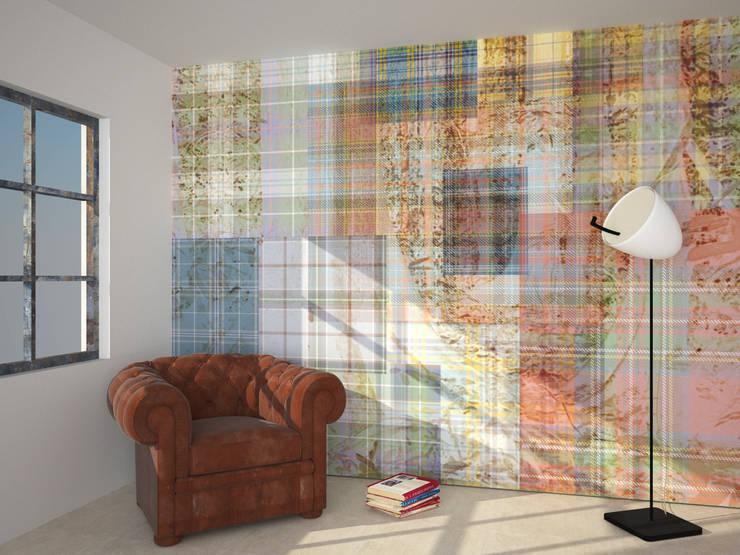 A' LA CARTE collection wallpaper on demand:  in stile industriale di B+P architetti, Industrial