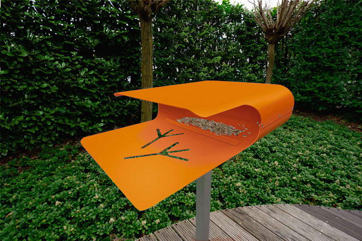 Piep Show 2 : moderner Garten von Radius Design