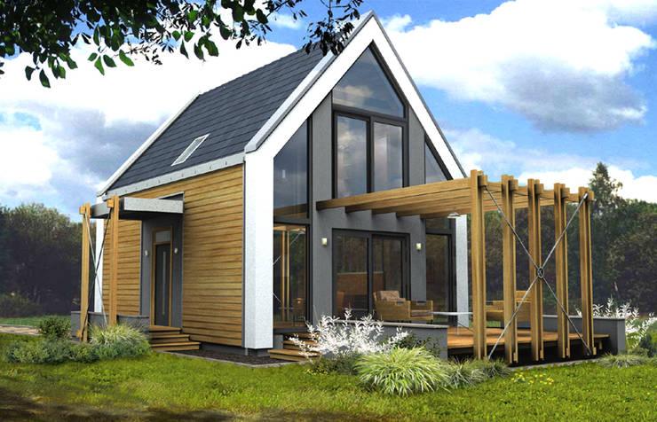 """projekt domu jednorodzinnego """"Delta"""": styl , w kategorii Domy zaprojektowany przez DOMuSniechowskich,"""