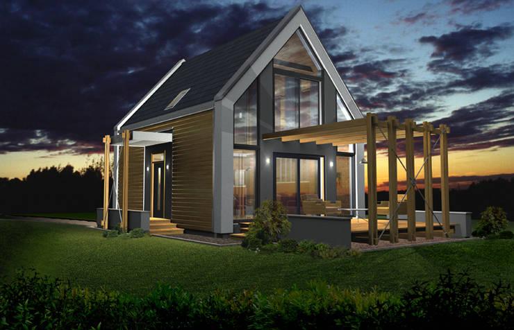 projekt domu jednorodzinnego <q>Delta</q>: styl , w kategorii Domy zaprojektowany przez DOMuSniechowskich,