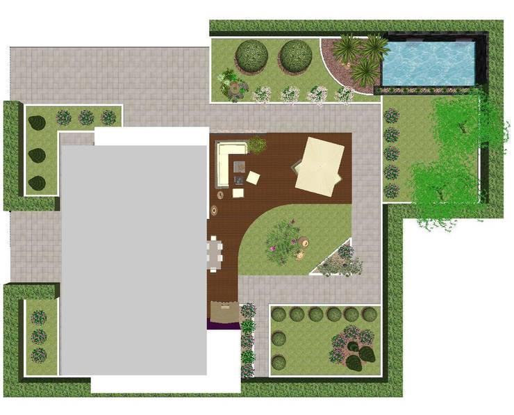 Modern Garden:  in stile  di Studio di Progettazione e Interior Design Cinzia Simonini