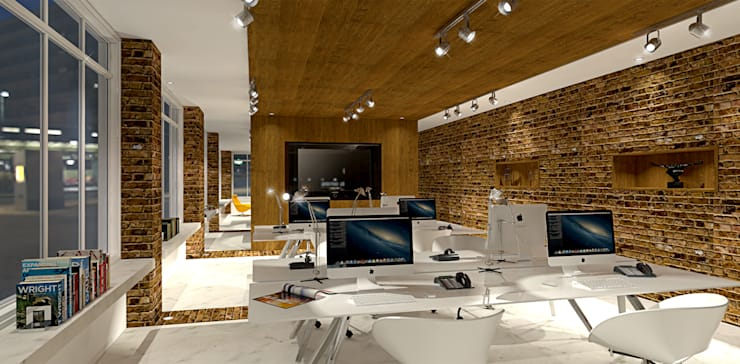Office design and 3D visual:  Office buildings by Outsourcing Interior Design