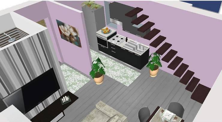 Proposta di arredo di un monolocale:  in stile  di Studio di Progettazione e Interior Design Cinzia Simonini