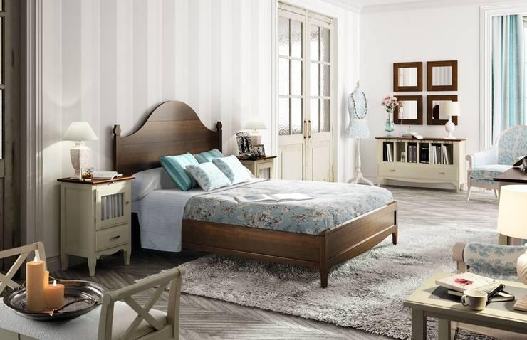 Dormitorio Vintage Fontana: Dormitorios de estilo  de Paco Escrivá Muebles