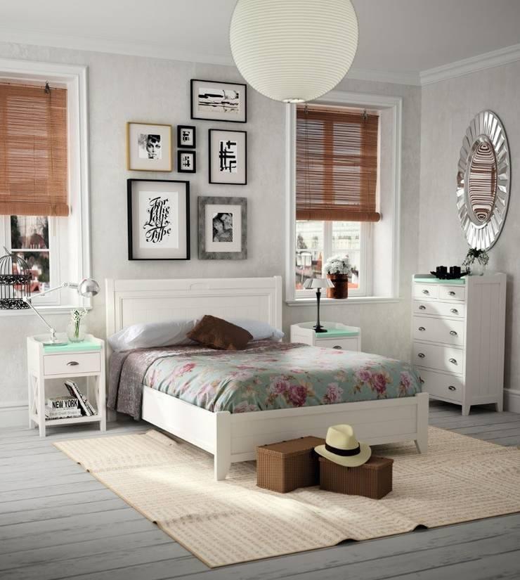 Dormitorio Vintage Verona: Dormitorios de estilo  de Paco Escrivá Muebles