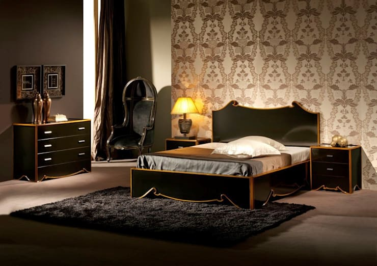 Dormitorio Vintage Bandy: Dormitorios de estilo  de Paco Escrivá Muebles