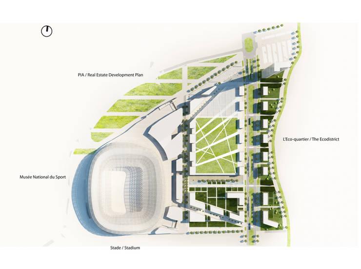 Plan de masse: Stades de style  par Wilmotte & Associés