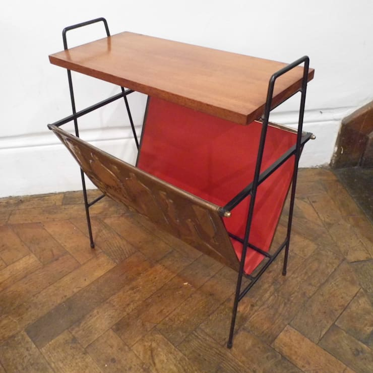 Mid Century Magazine Rack:  Living room by Travers Antiques
