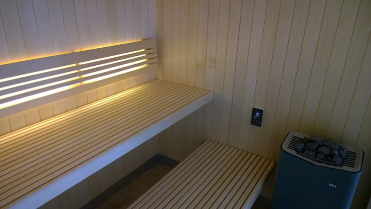 Glass fronted sauna:  Spa by Leisurequip Limited