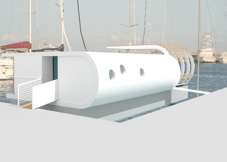 Floating house: Yacht & Jet in stile  di Laura Marini Architetto