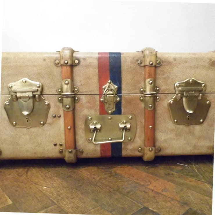 Vintage Vellum Trunk:  Living room by Travers Antiques