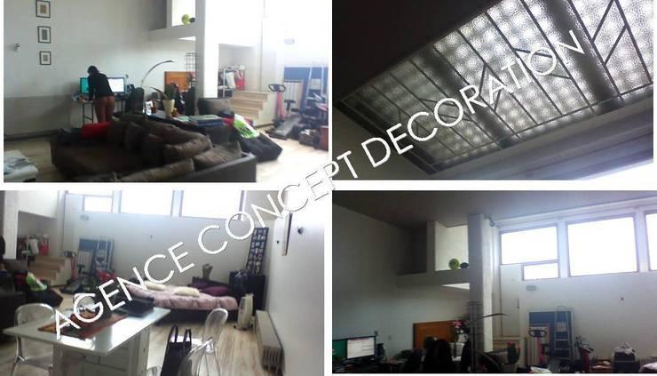 vues loft avant: Jardin d'hiver de style  par agence concept decoration