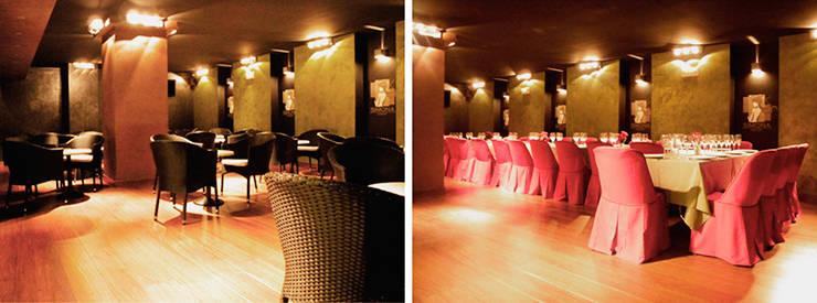 lounge en madrid: Oficinas y Tiendas de estilo  de Arquitectos Madrid 2.0