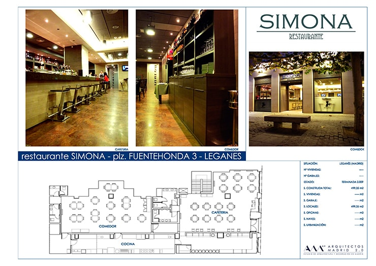 Proyecto y Reforma de Restaurante en Madrid por Arquitectos Madrid 2.0:  de estilo  de Arquitectos Madrid 2.0