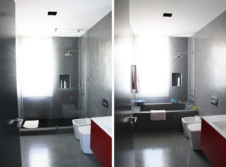 Baños con microcemento: Baños de estilo  de Arquitectos Madrid 2.0