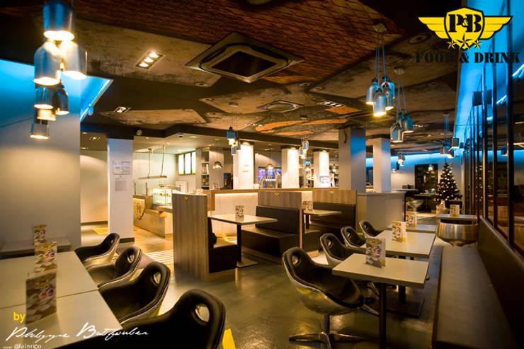 Restaurant Le P&B – Food&Drinks:  de style  par Agence Philippe BATIFOULIER Design