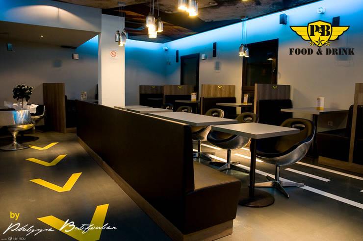 Restaurant Le P&B - Food&Drinks:  de style  par Agence Philippe BATIFOULIER Design